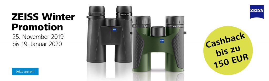 ZEISS Winter Promotion: Cashback bis zu EURO 150,-