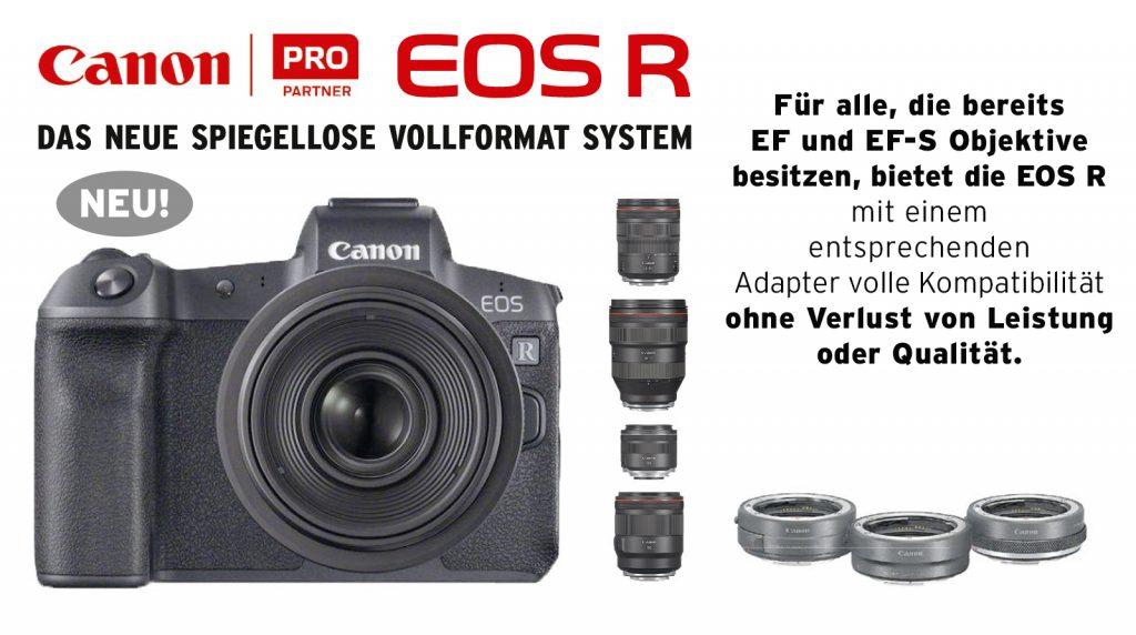 EOS R System, das neue spiegellose Vollformat-System von Canon.