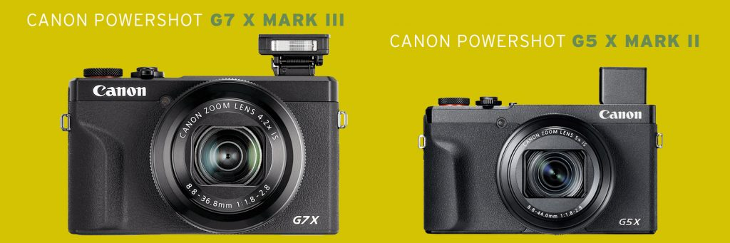 Canon PowerShot G7 X Mark III  und Canon PowerShot G5 X Mark II