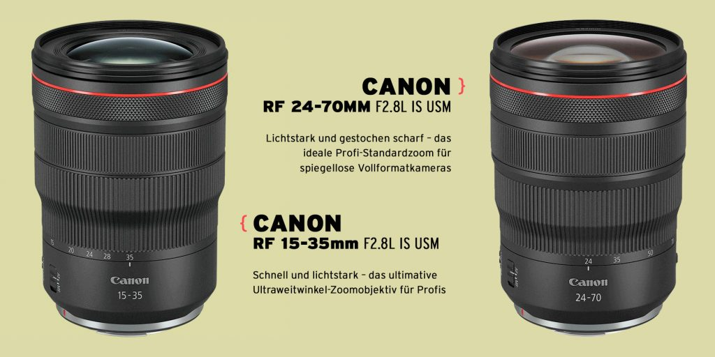 Canon RF 24-70MM F2.8L IS USM und Canon RF 15-35mm F2.8L IS USM