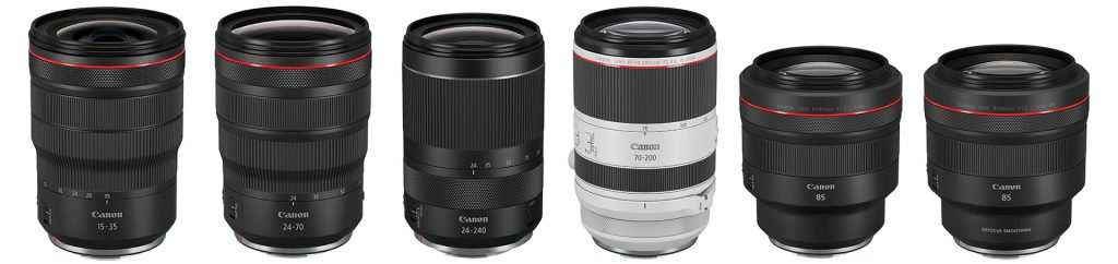 Die neuen Canon RF-Objektive – wenn lieferbar am Lager vorrätig!
