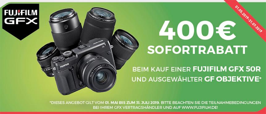 GFX 50R und GF Objektive Sofortrabatt Aktion!