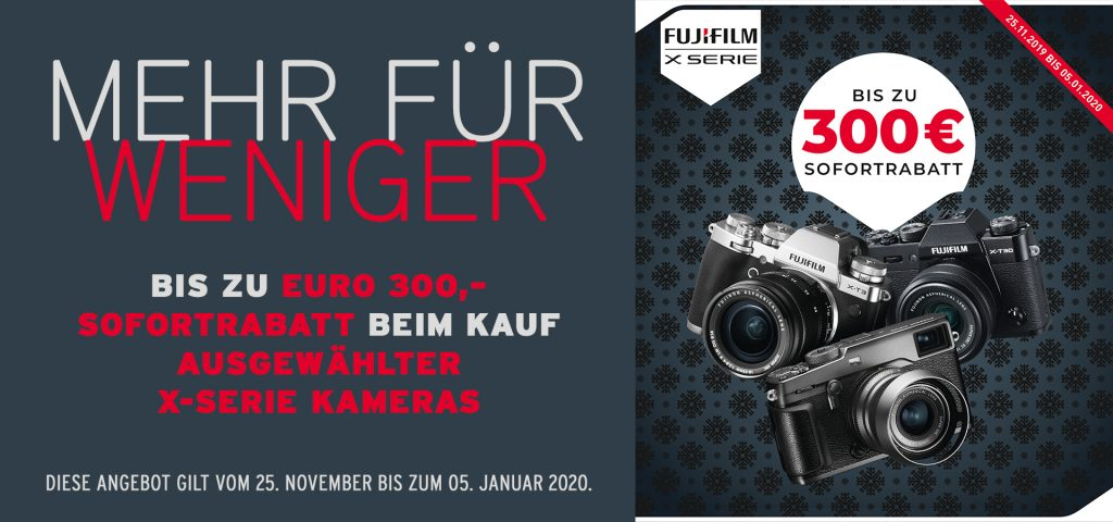 FUJIFILM Winter Sofortrabatt Aktion: