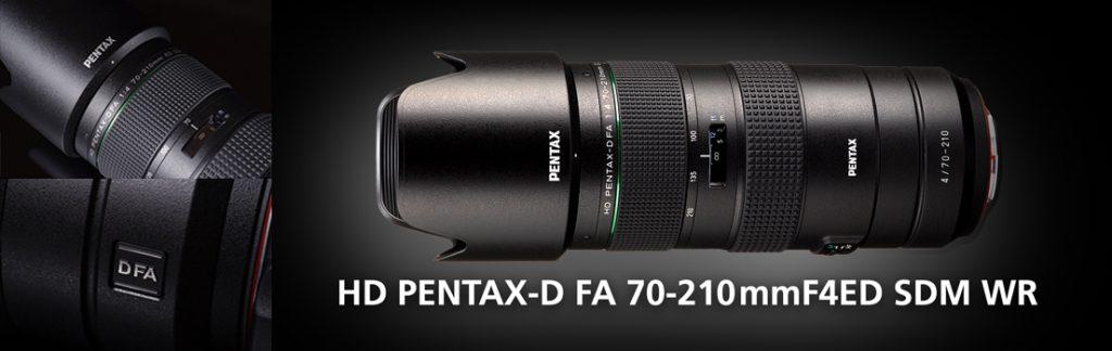 HD Pentax-D FA 70-210mm F4 ED SDM WR -