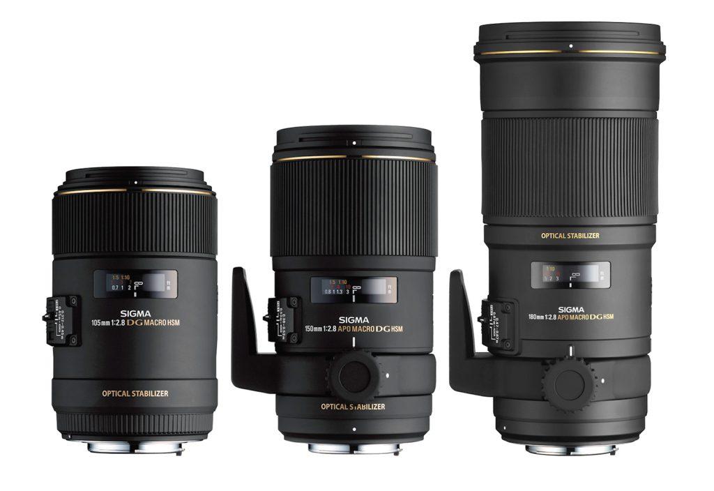 SIGMA Makro 105mm F2,8 EX DG OS HSM, SIGMA Makro 150mm F2,8 EX DG OS HSM & SIGMA Makro 180mm F2,8 EX DG OS HSM