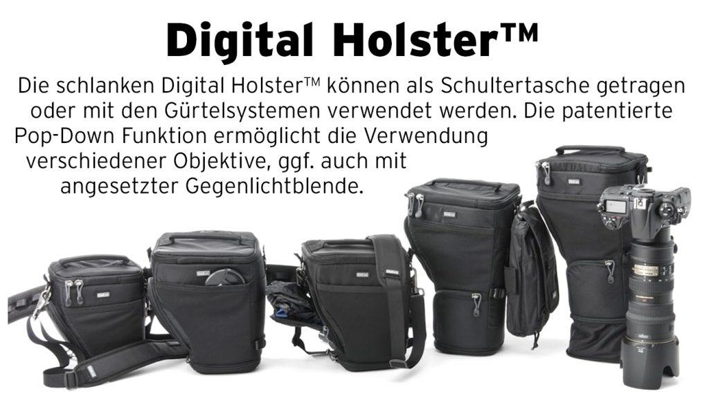 Alle Modelle der Digital Holster-Serie