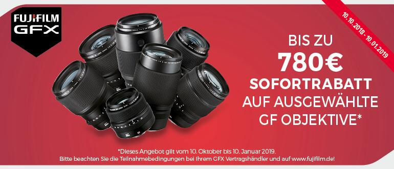Fujifilm Winter-Sofortrabatt-Aktion auf ausgewählte GF-Objektive