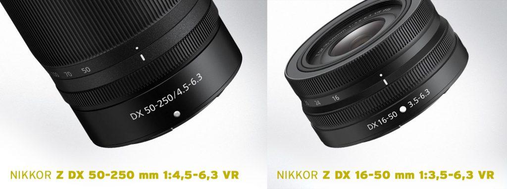 NIKKOR Z DX 50-250 mm 1:4,5-6,3 VR und NIKKOR Z DX 16-50 mm 1:3,5-6,3 VR