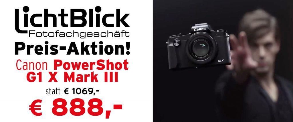 Lichtblick Konstanz - Canon EOS G1 X Mark III Preis-Aktion!