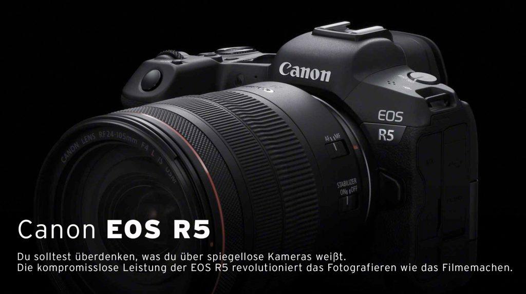 (Canon EOS R5 – Canon EOS R5 – die Spiegellose Systemkamera – Am Lager vorrätig)