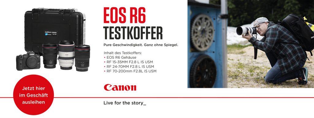 Canon EOS R6 Testkoffer – Jetzt hier im Geschäft ausleihen!