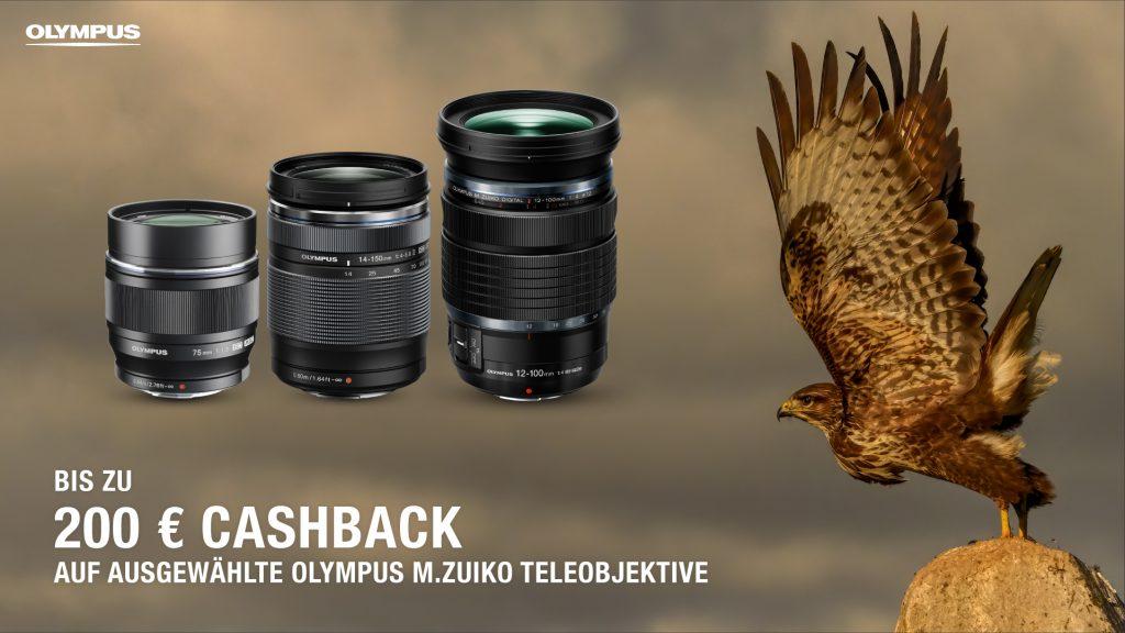 Olympus Objektive-Sommer Cashback-Aktion 2021
