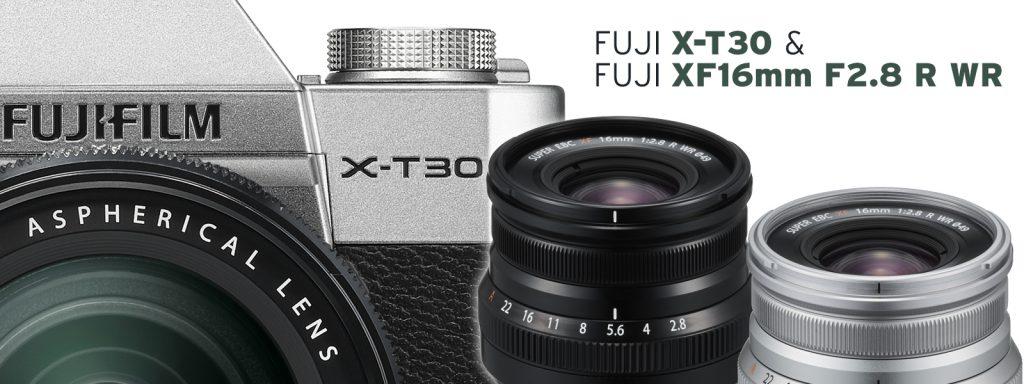 Die neue FUJIFILM X-T30 & das neue FUJIFILM XF16mm F2.8 R WR
