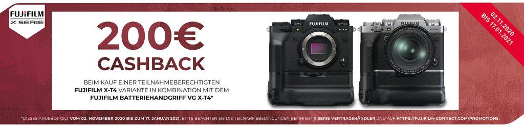 (FUJIFILM Winter Cashback 2020 für Cashback Fuji X-T4 und Fuji VG X-T4 02.11.2020 - 17.01.2021)
