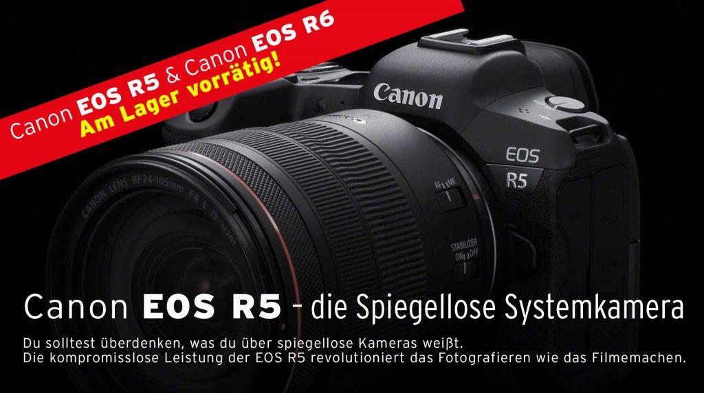 Canon EOS R5 – die Spiegellose Systemkamera.