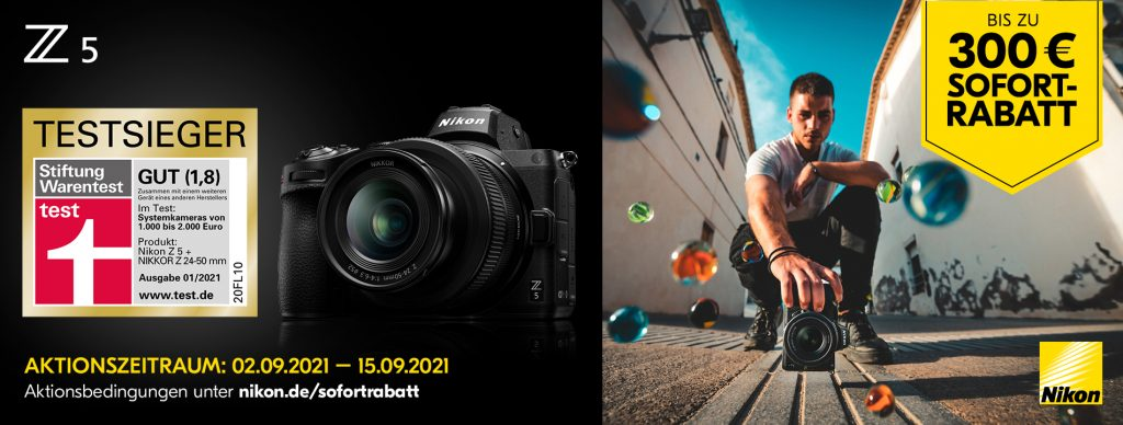 Nikon Z-5 Sofortrabatt-Aktion vom 02.09. – 15.09.2021