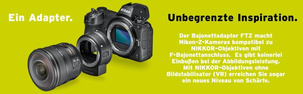 (Nikon-Bajonettadapter FTZ)