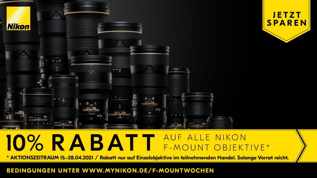 Nikon F-Mount 10% Rabattwochen – 15.04.2021 bis zum 28.04.2021