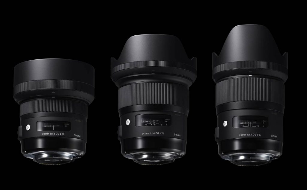 24mm F1,4 DG HSM | Art, 30mm F1,4 DG HSM | Art & 35mm F1,4 DG HSM | Art