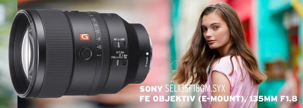Sony FE G Master Objektiv (E-Mount), 135mm F1.8