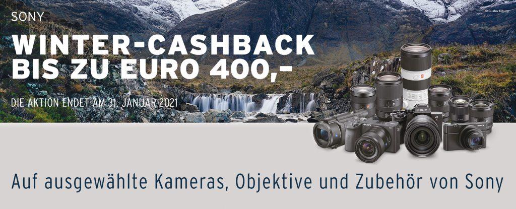 (Sony Winter-Cashback bis zu EURO 400,– auf ausgewählte Kameras, Objektive und Zubehör von Sony)