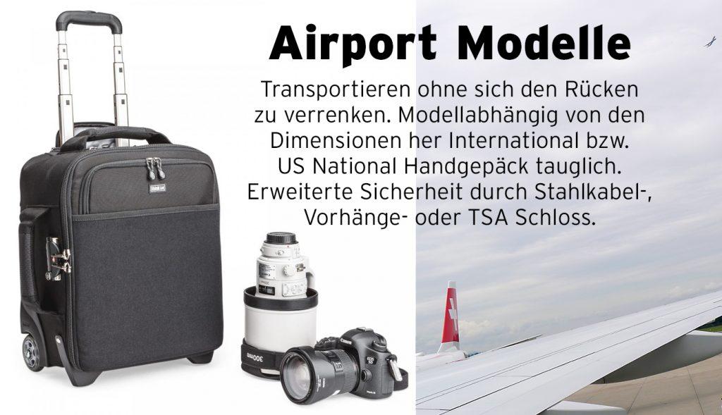 Alle ThinkTank Modelle der Airport-Serie
