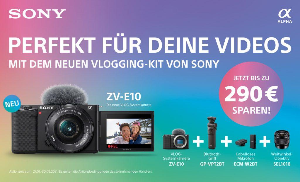 Mit dem Vlogging-Kit von Sony bis zu EUR 290,– sparen!