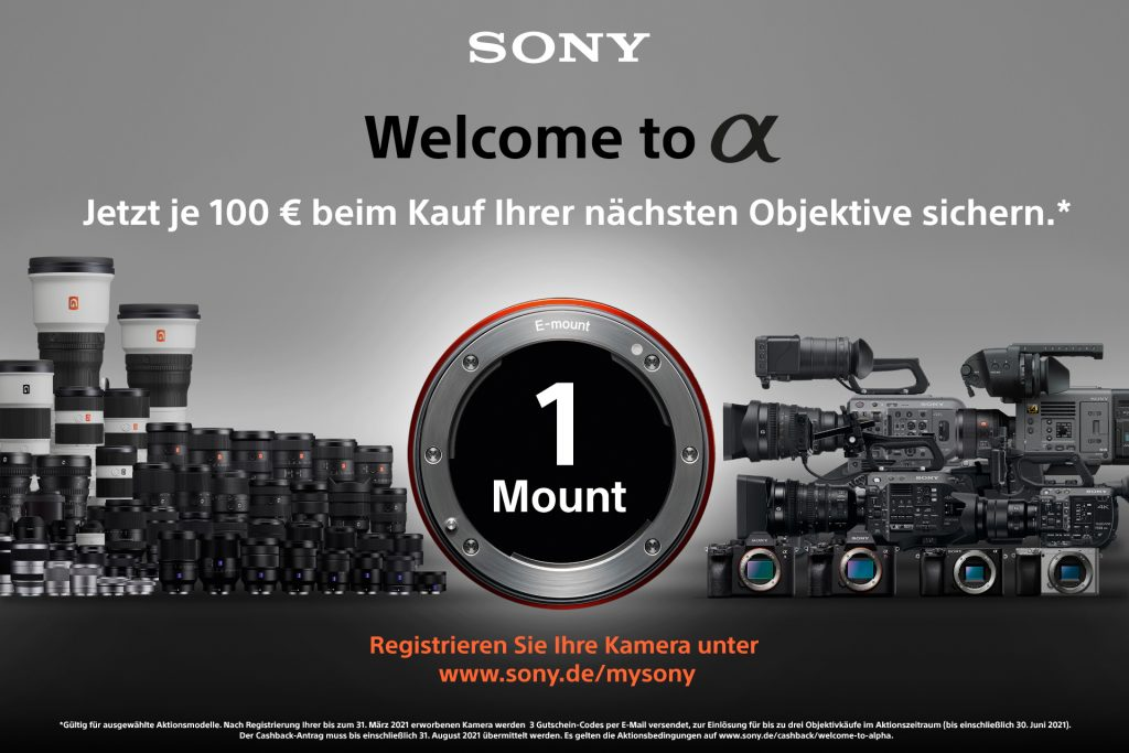 (SONY – Welcome to Alpha-Aktion!)