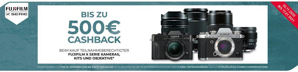 (FUJIFILM Winter Cashback 2020 für die X-Serie vom 02.11.2020 - 17.01.2021)